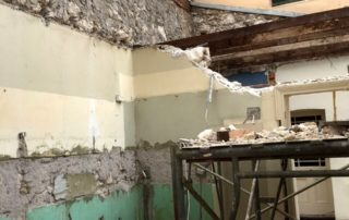 demolition of walls