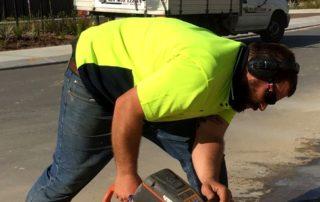 foot path concrete cutting