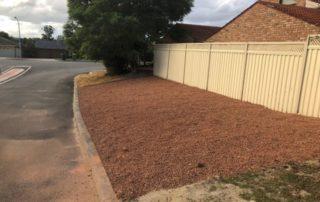 yard mulched
